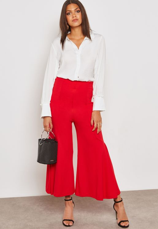 High Waisted Detail Pants