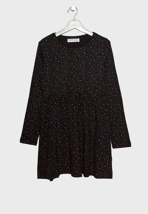 Teen Pleated Dress