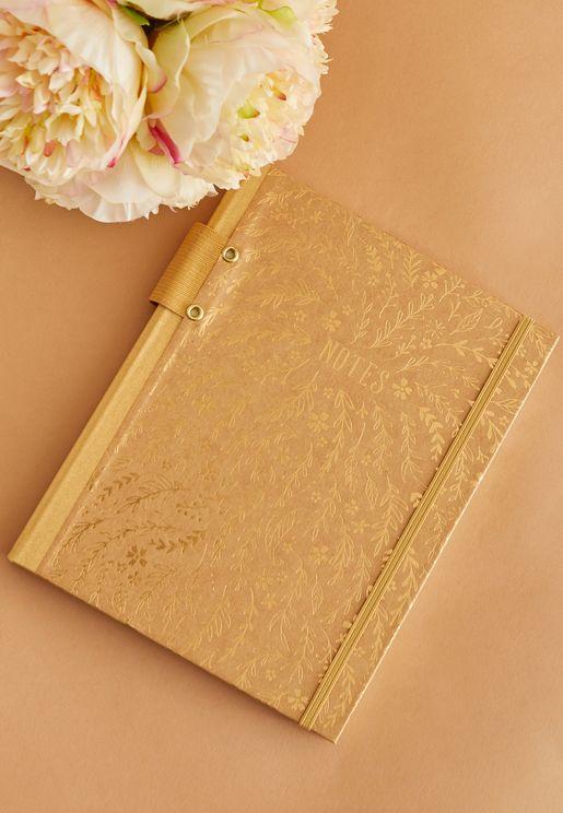 دفتر ملاحظات مطبع مع حامل للقلم