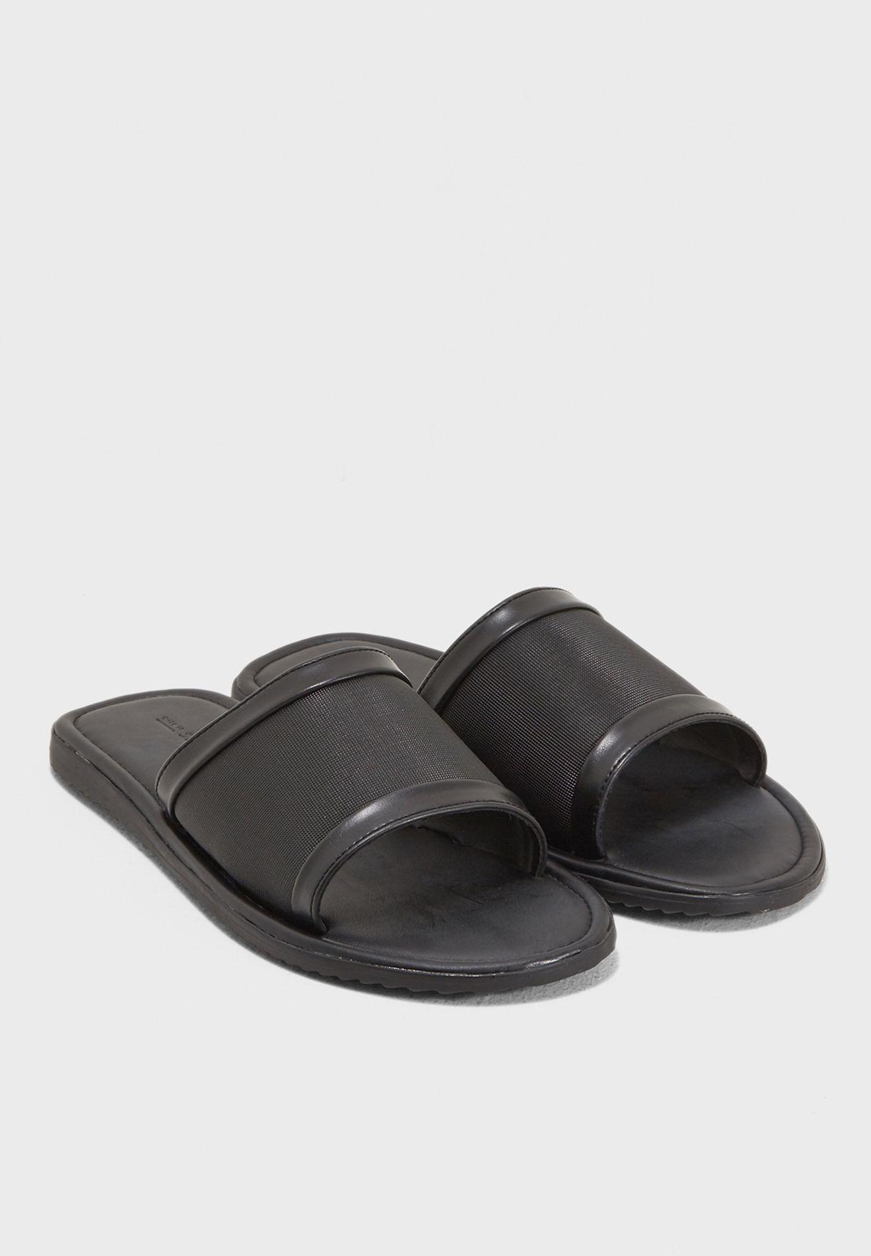 b7aef9325dd7 Shop Call It Spring black Aroalle Slides AROALLE96 for Men in UAE ...