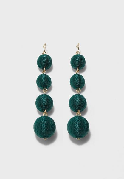 Bauble Fabric Earrings
