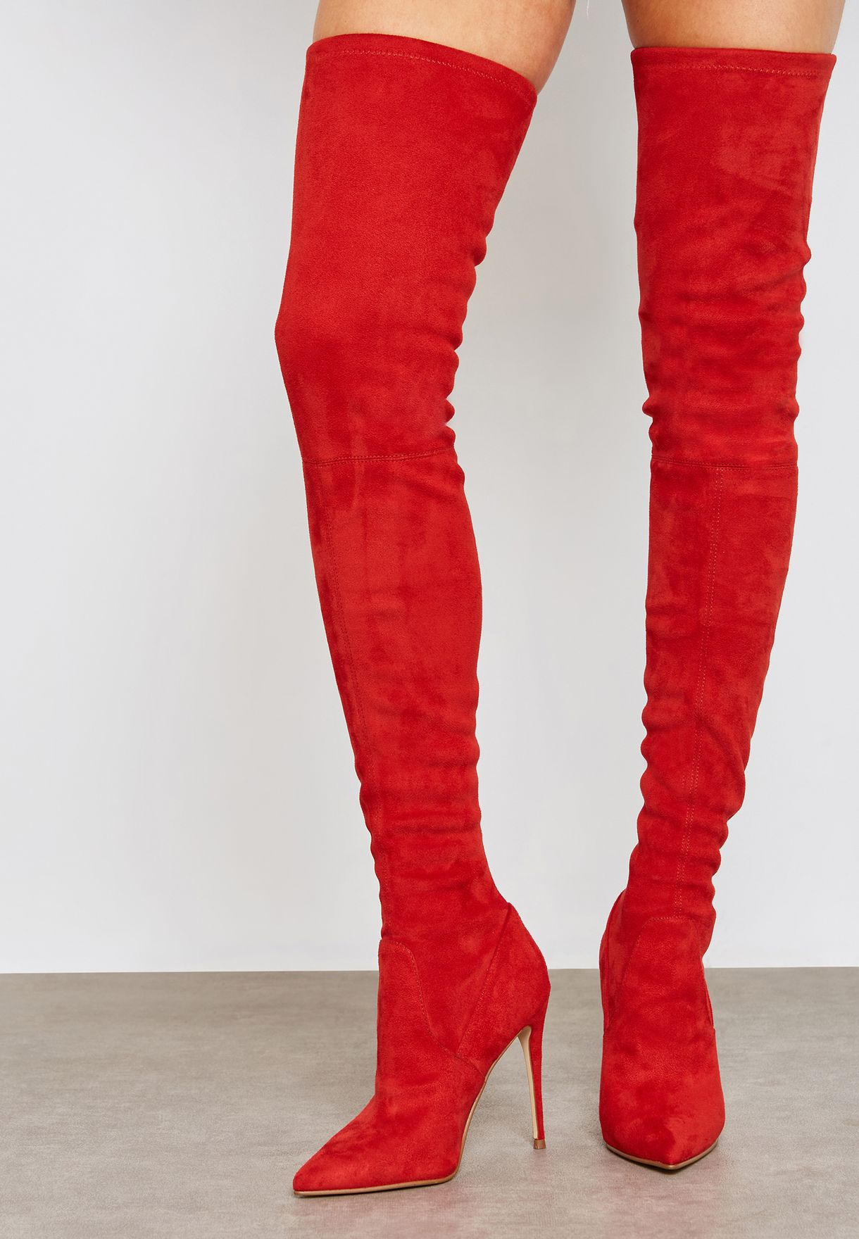 0248bf6d54a Shop Steve Madden red Dominique Knee Boot DOMINIQUE for Women in UAE ...