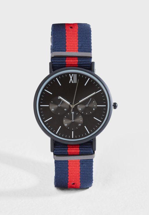 Nylon Strap Casual Watch