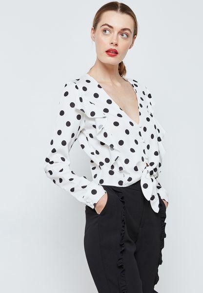 Polka Dot Tie Shirt