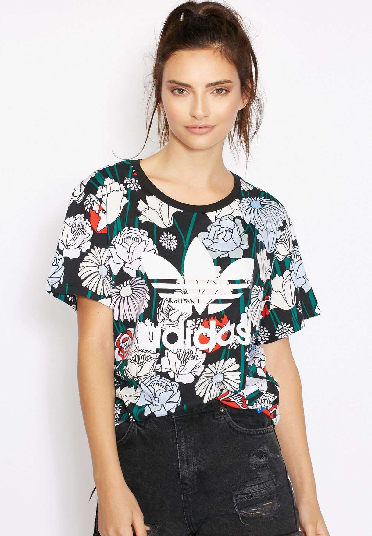 adidas Boyfriend Trefoil T Shirt Black | adidas UK