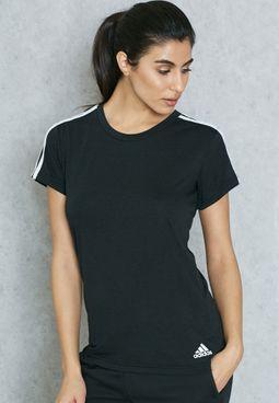 Essential 3 Stripe Slim T-Shirt