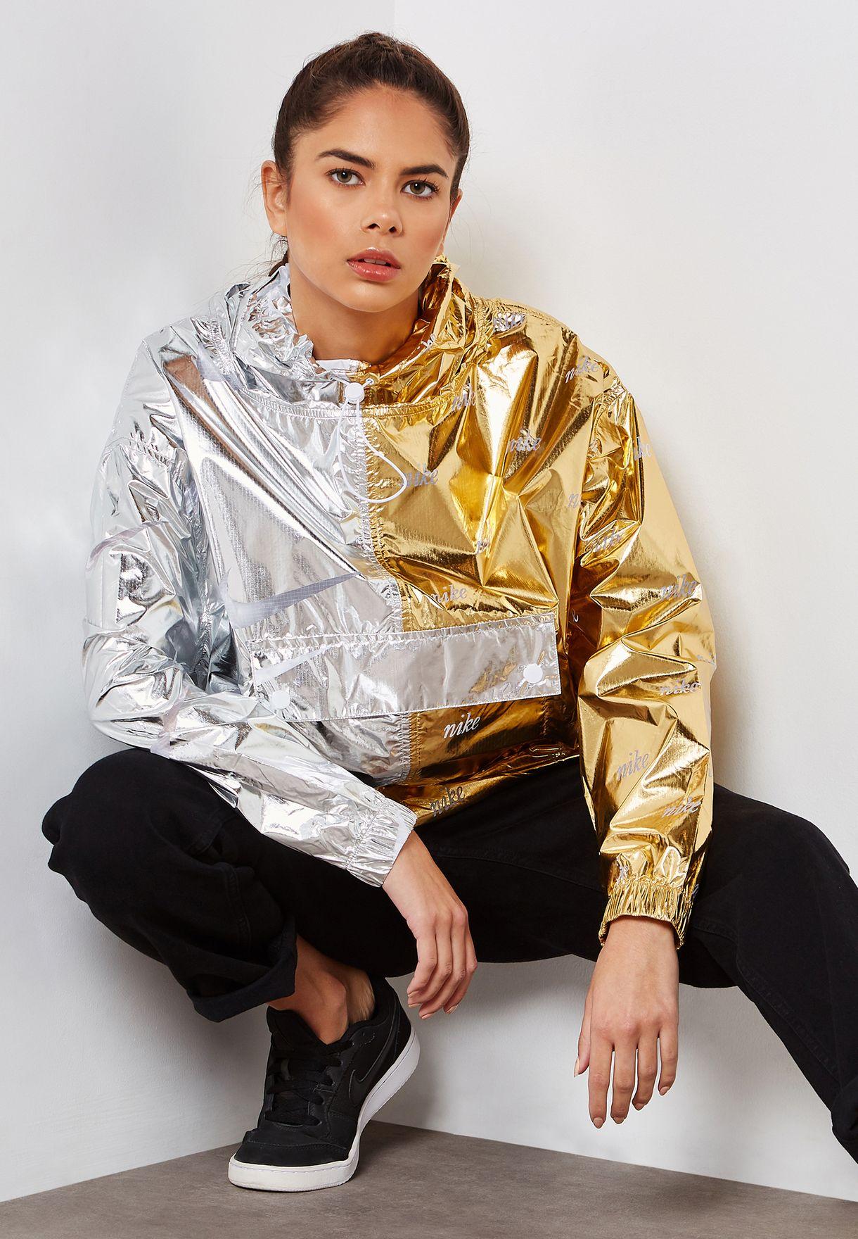 Shop Nike multicolor Metallic AOP Jacket AJ0104-751 for Women in ... ee84895a5