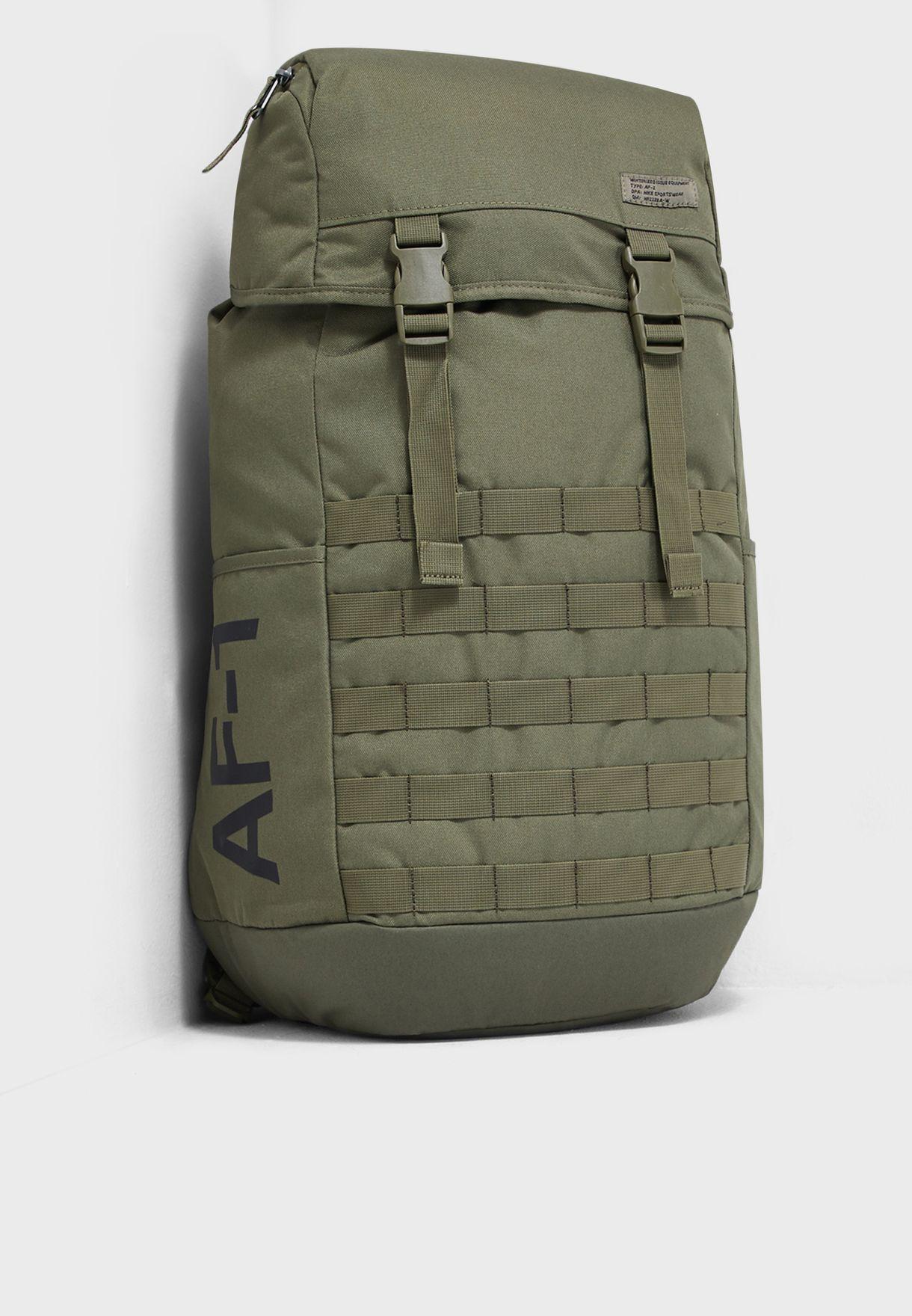 aaa41d568783b Shop Nike khaki AF1 Backpack BA5731-210 for Men in Oman - NI727AC01ETA