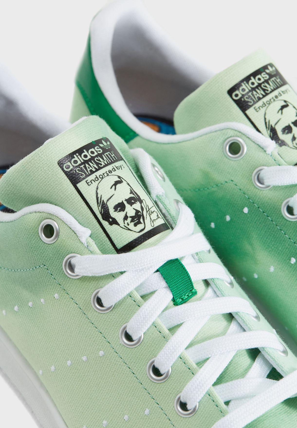 f70560347 Shop adidas Originals green Pharrell Williams Hu Holi Stan Smith ...