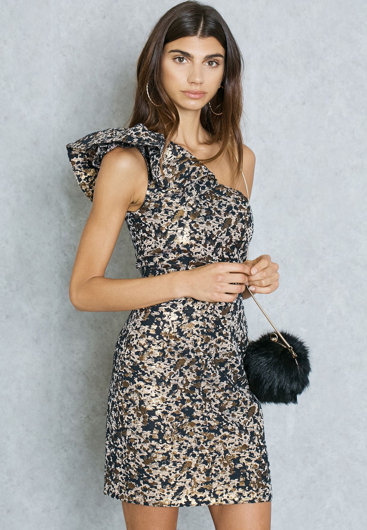 Shop Miss Selfridge prints Leopard One Shoulder Dress 18D07QMUL for Women  in Kuwait - MI858AT01WPA 23ffe00a3