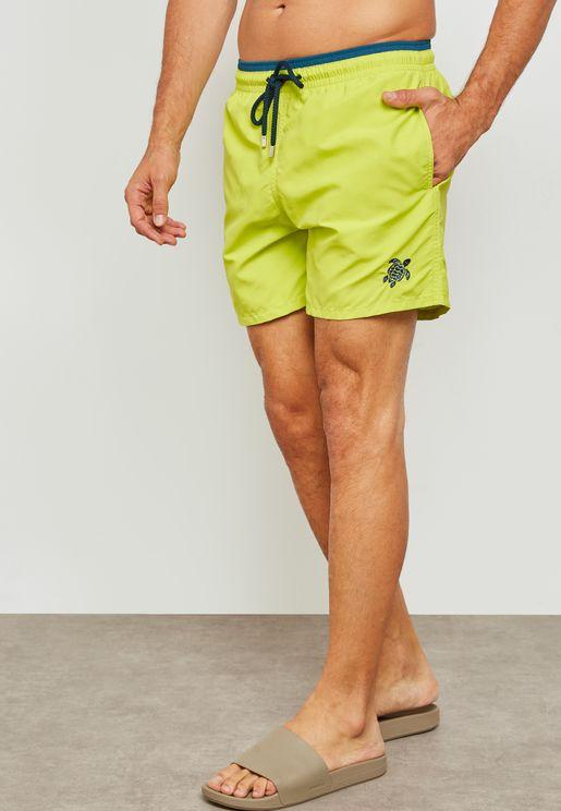 Bicolor Swim Shorts