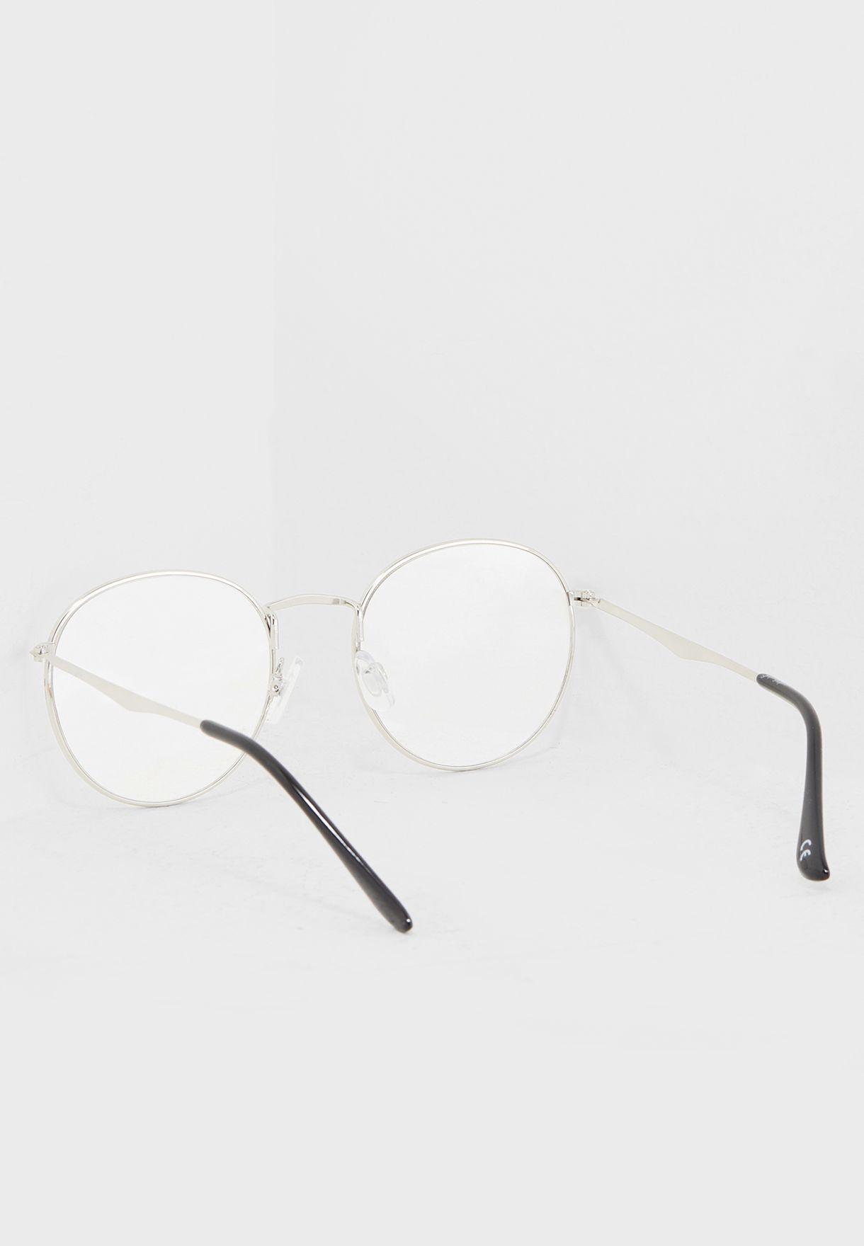 نظارات دائرية شفافة