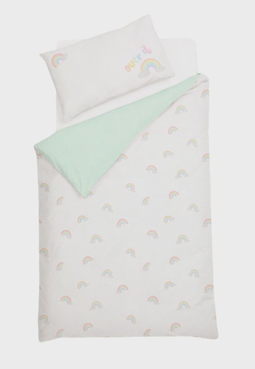 Rainbow Print Signle Bedding Set