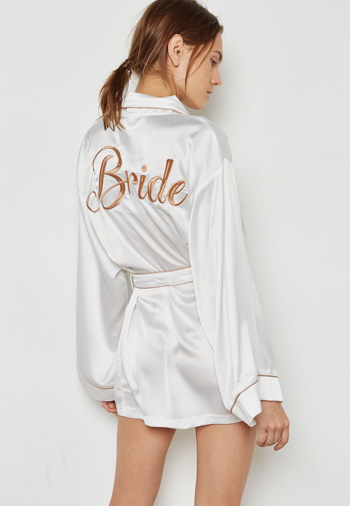 5b502f2f93b13 تسوق روب العروس ماركة ميس جايديد لون أبيض N9332555 في الامارات ...