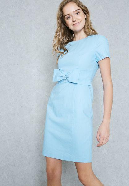 Bow Waist Detailed Dress