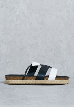 Asymmetrical Three Band Sandal