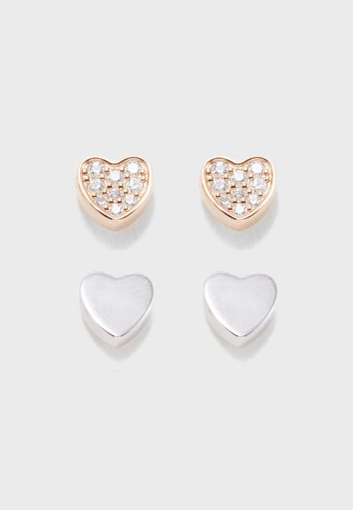 Multipack Sterline Stud Earrings