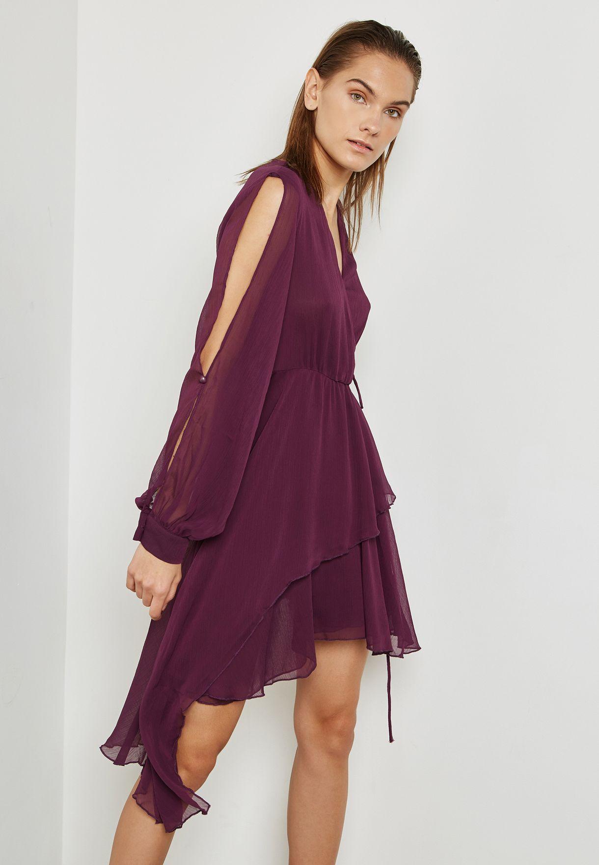 Slit Sleeve Dress