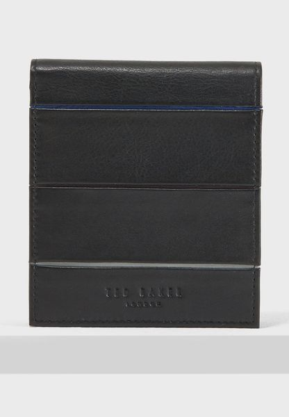 Striped Piping Bifold Wallet