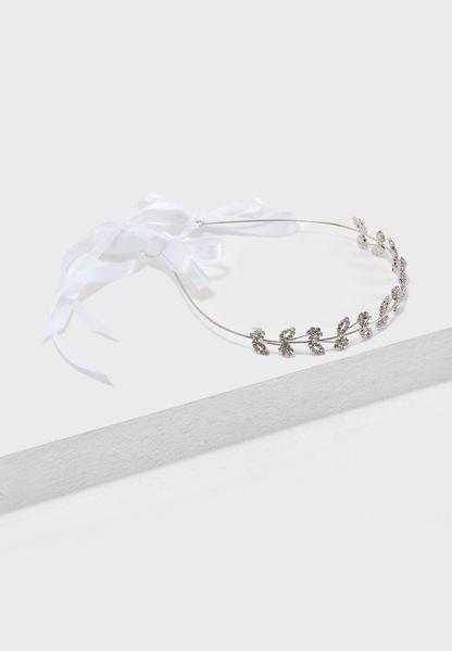 Diamante Ribbon Back Headband