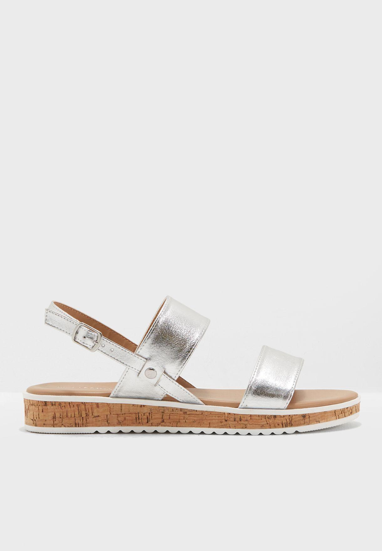 0ad75331f19 Shop Call It Spring silver Low Flatform Two Band Sandal HAIELLA81 for Women  in Qatar - CA918SH01TYK