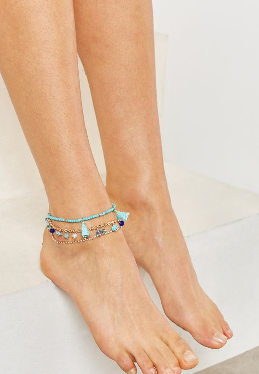 Multipack Crilania Anklets