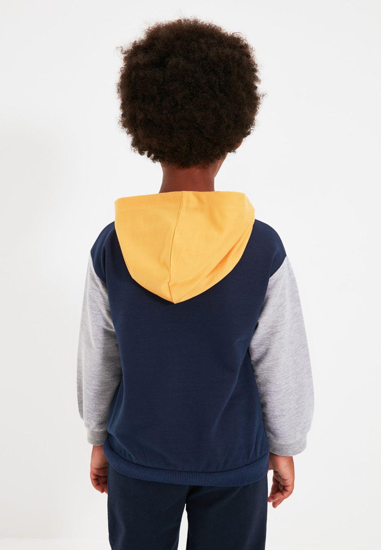Kids Color Block Hoodie
