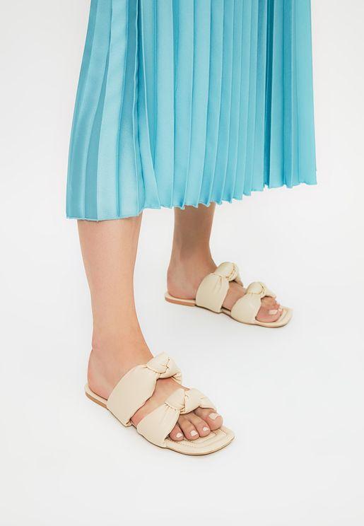 Beige Women'S Slippers