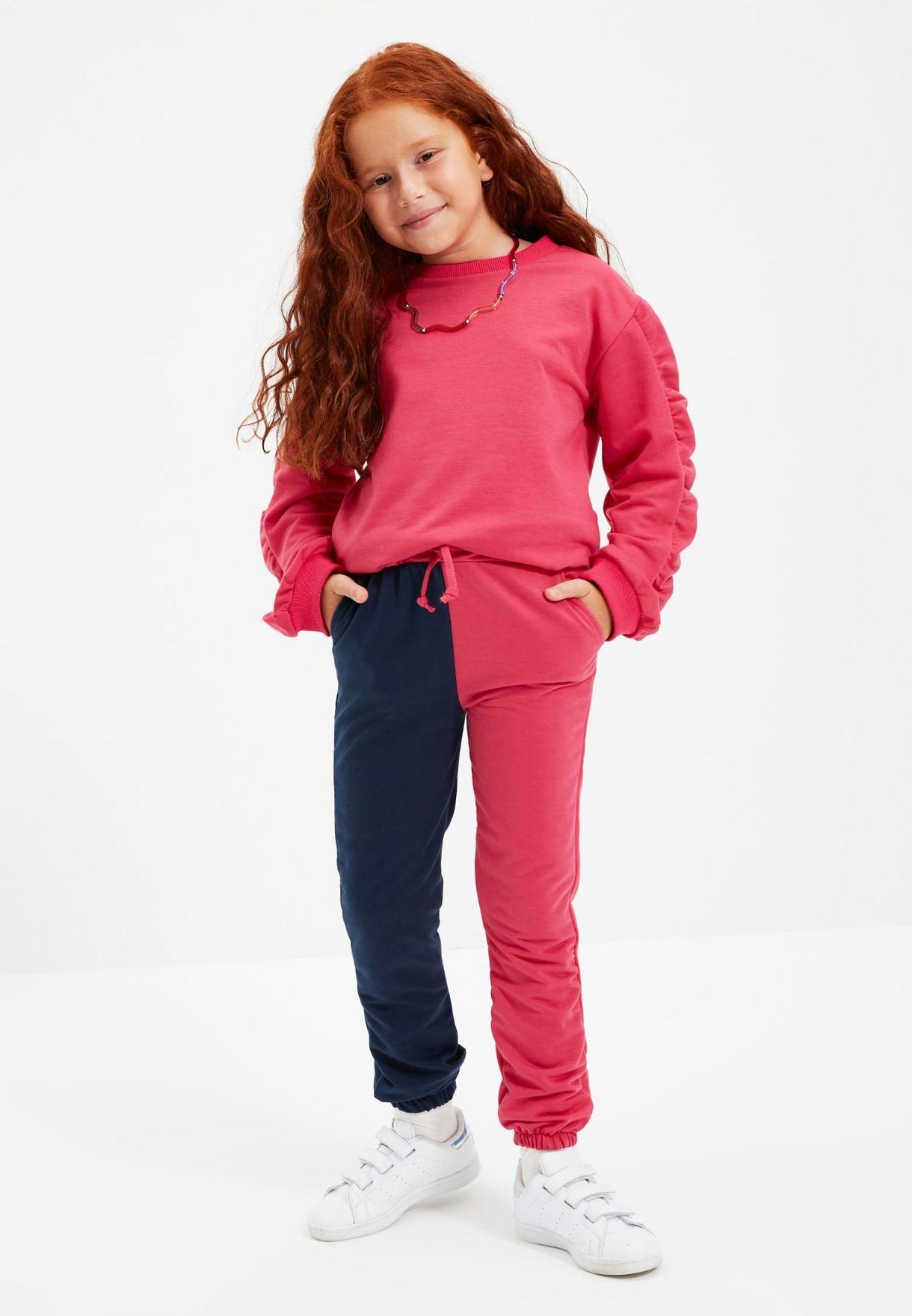 Kids Color Block Sweatpants