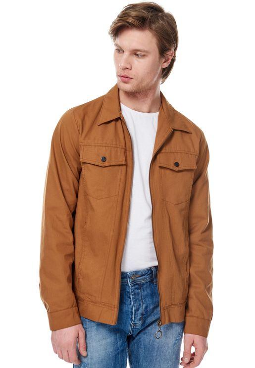 Pocket Detail Trucker Jacket