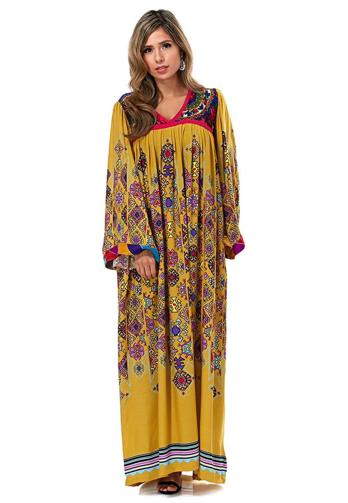 891db5286 Shop Anaya yellow Printed Kaftan for Women in Oman - AN332AT90BXH