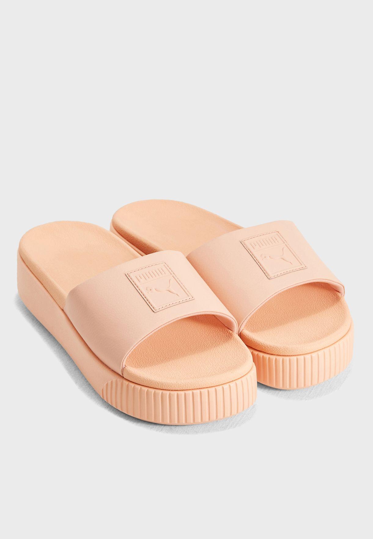 25160fc8f11ca5 Shop PUMA orange Platform Slide 36612107 for Women in UAE - PU020SH90PXX