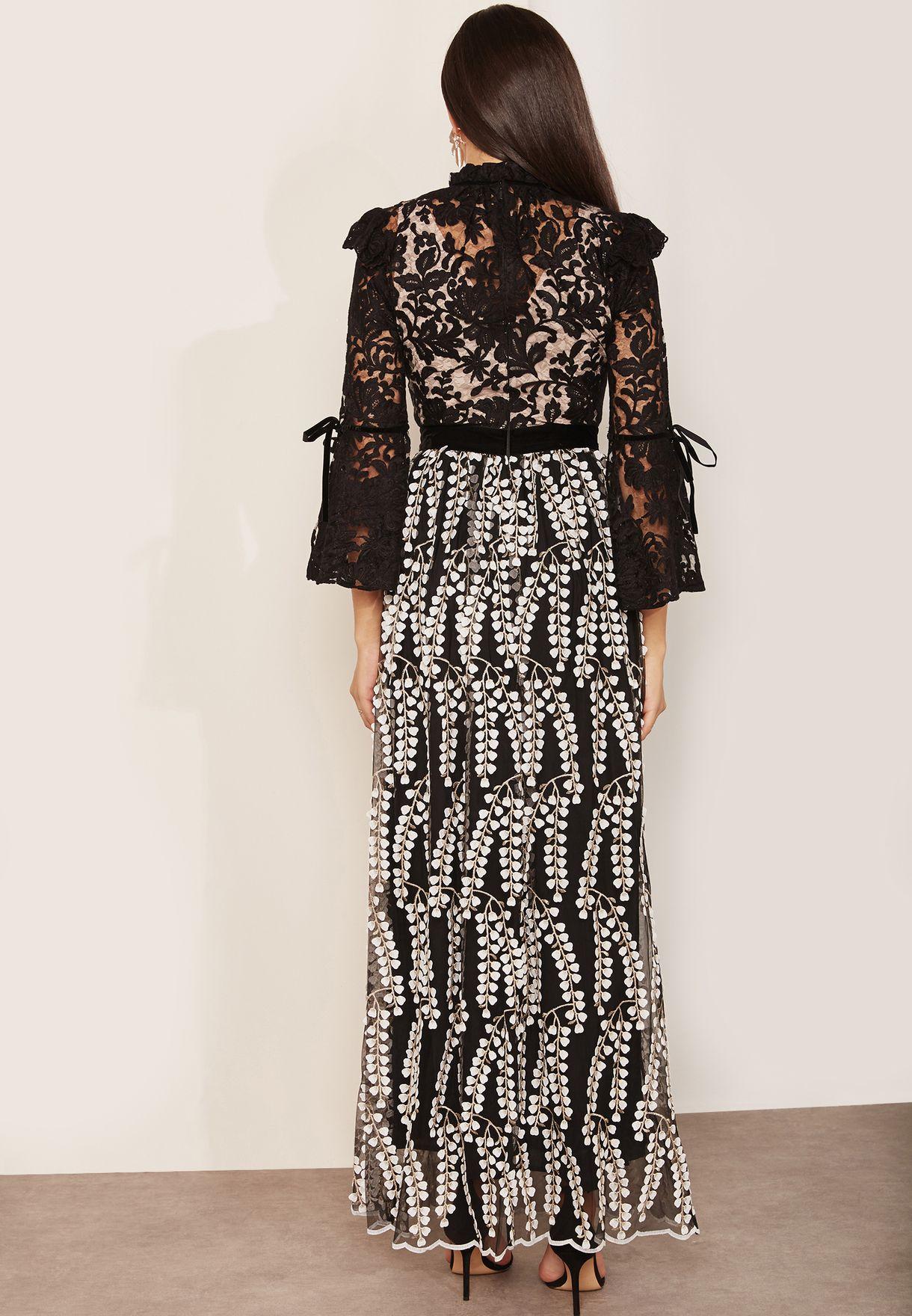 Wallflower Lace Detail Maxi Dress