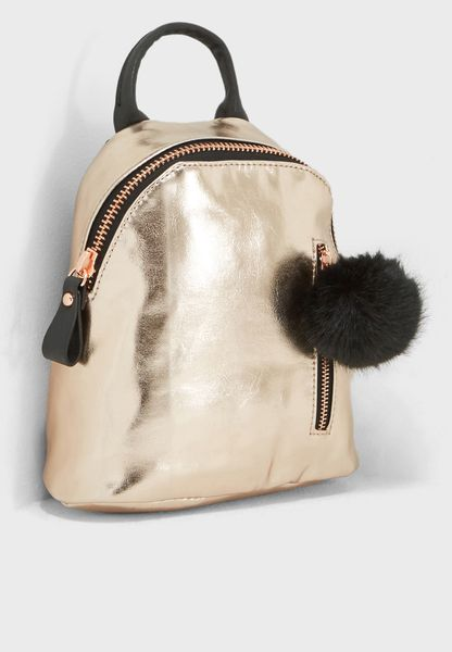 Santa Fe Pom Pom Backpack