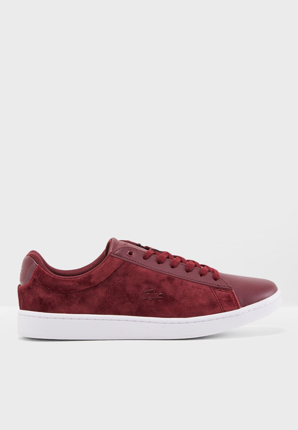 70d528efeefd Shop Lacoste burgundy Carnaby Evo 318 8 Spw Sneaker 736SPW0015 for ...