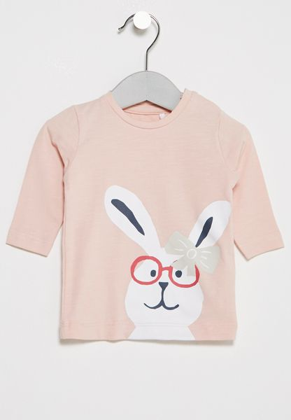 Infant Fenin Rabbit Print T-Shirt