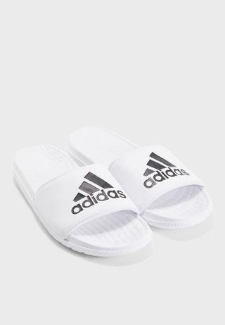 fdd062736 Shop adidas white Adilette Aqua Slides F35539 for Men in Bahrain ...