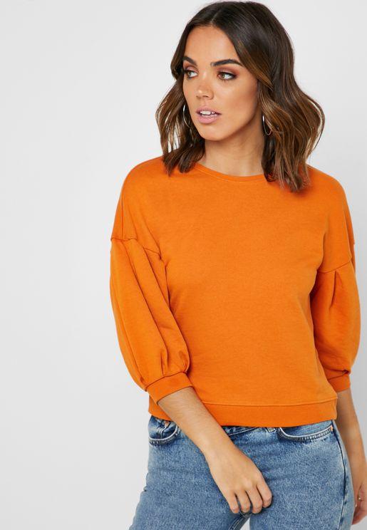 Puff 3/4 Sleeve Sweatshirt