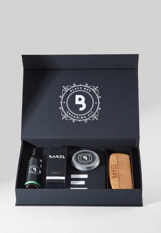 Sandalwood Black Box Grooming Kit