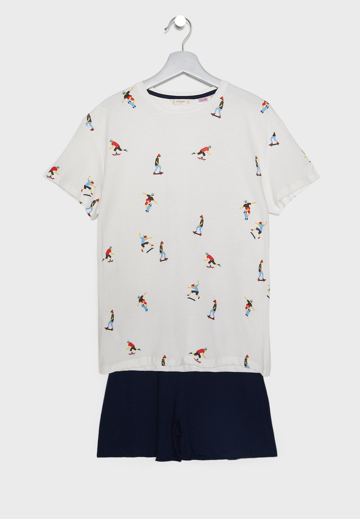Kids Skating Print Pyjama Set