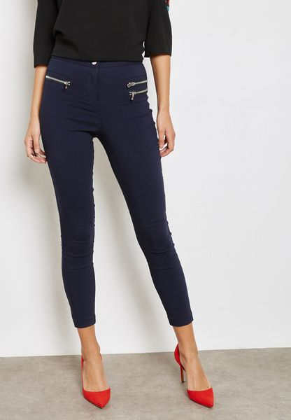 Zip Detail Skinny Pants