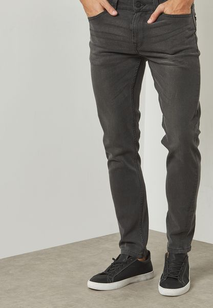 Warp Skinny Fit Washed Jeans