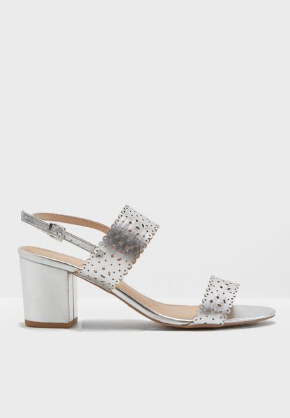 Silver Sugar Lazercut Sandals