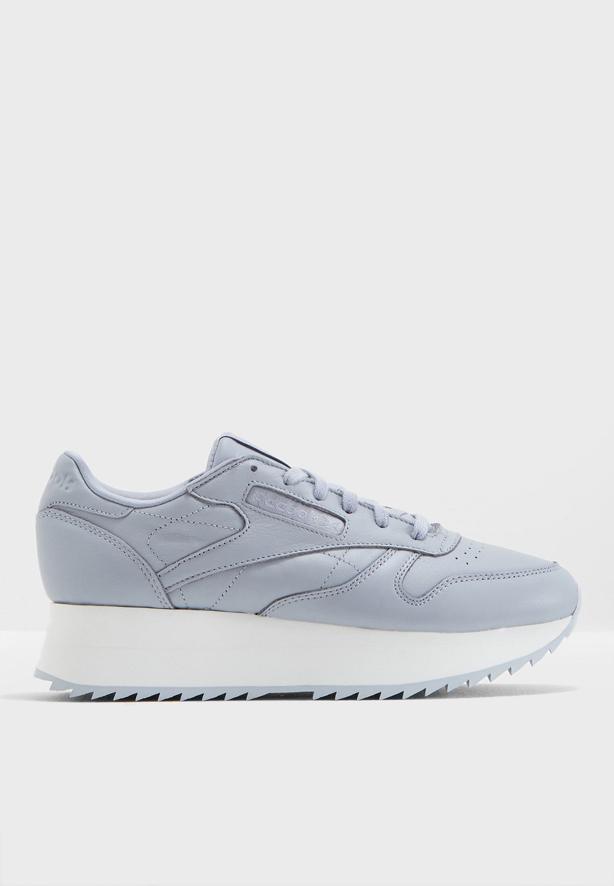 ad33f7035f537 Shop Reebok grey Classic Leather Double CN5490 for Women in UAE ...