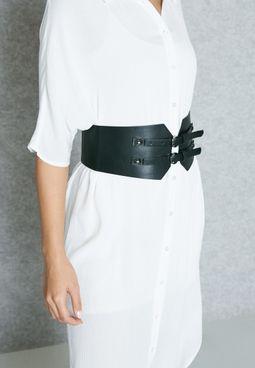 Double Buckle Corset Belt