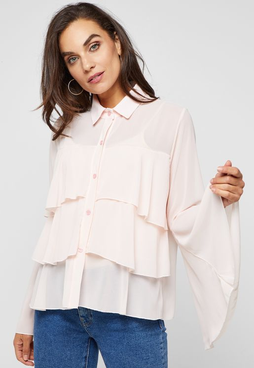 Tiered Ruffle Shirt