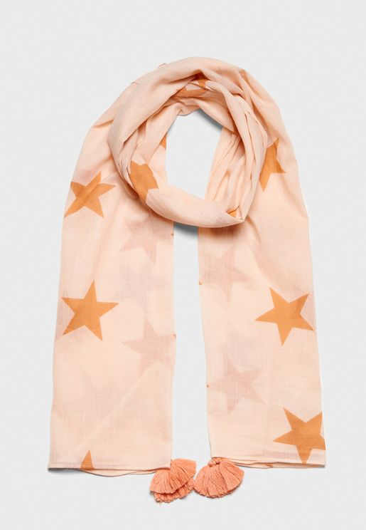 Little Star Print Scarf