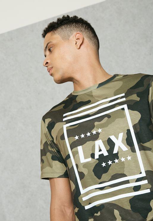 LAX Camo Crew Neck T-Shirt