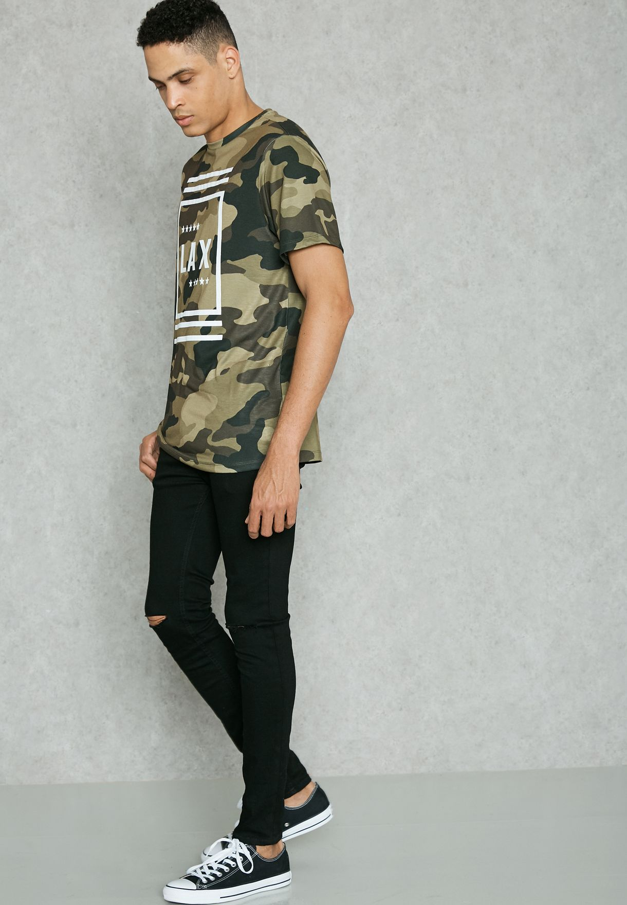 LAX Camo Crew Neck T-Shirt