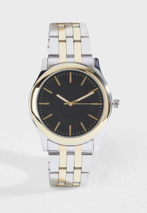 Formal Metal Strap Analogue Watch